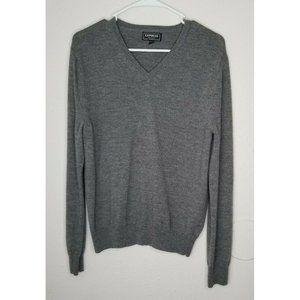 Express Gray V-Neck Sweater Men's Size M